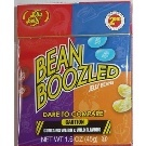 Jelly Belly BeanBoozled jelly beans. Weird and nasty flavors mixed with regular ones. Makes a great game!    BeanBoozled jelly beans come in 20 flavors, 10 weird and wild flavors matched up with 10 look-alike tasty flavors. Is the black jelly bean Licorice, or is it Skunk Spray? Perhaps the blue bean is Toothpaste flavor, or maybe it's delicious Berry Blue. Think you can tell them apart? We dare you!