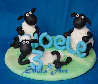 Silula Art: Cake Topper per il compleanno di Gioele - Shaun th...