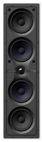 "Bowers & Wilkins - CWM Cinema 7 Dual 4"" 2.5-Way In-Wall Speaker System - Black/White"