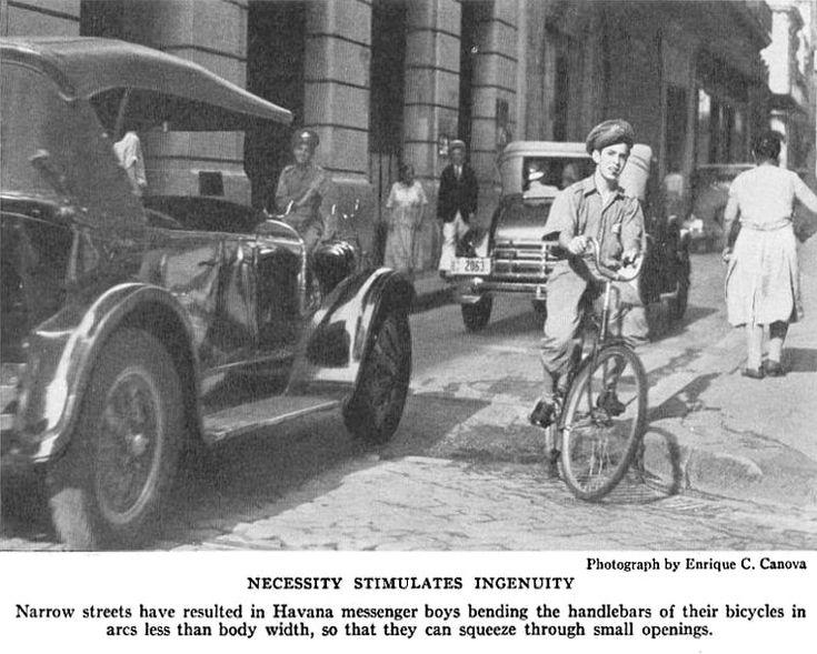 Mensajero en bicicleta Havana 1933