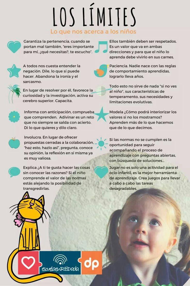 Cómo establecer límites con los niños y niñas. #infografía #educación
