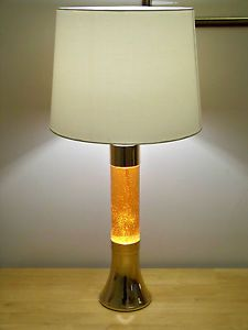 RARE CRESTWORTH MK 1 COPPER GLITTERLITE TABLE LAMP / LAVA (PRE MATHMOS)  #RARE