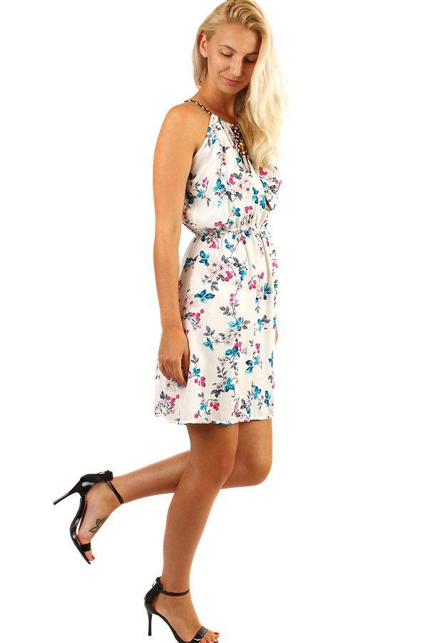 f1df2c828400 Letní krátké šaty s potiskem květů - koupit online na Glara.cz  letnisaty