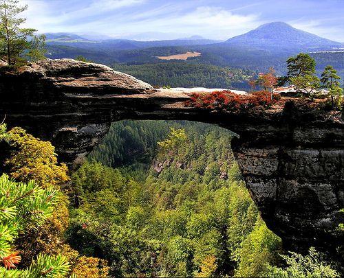 Pravčická brána (Rock Bridge), Czech Switzerland, a mountainous area in the north west corner of the Czech Republic