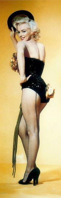 "Marilyn Monroe. Publicity photo for ""Gentlemen Prefer Blondes"", 1953."