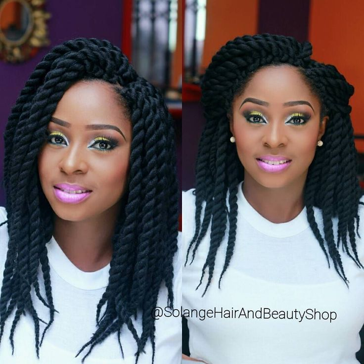 "We're loving this protective style ""the boom pre-twisted"" crochet braid…"