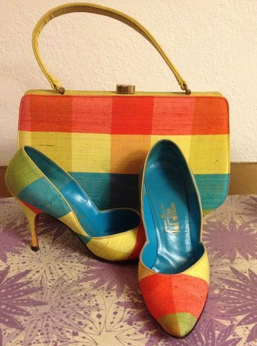Vintage Matching Shoes and Purse Dominic Romano for Paul Allen