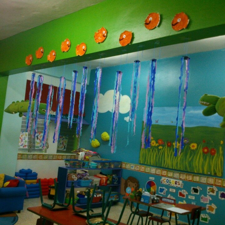 Under the sea preschool decoration classroom ideas for Art and craft for school decoration