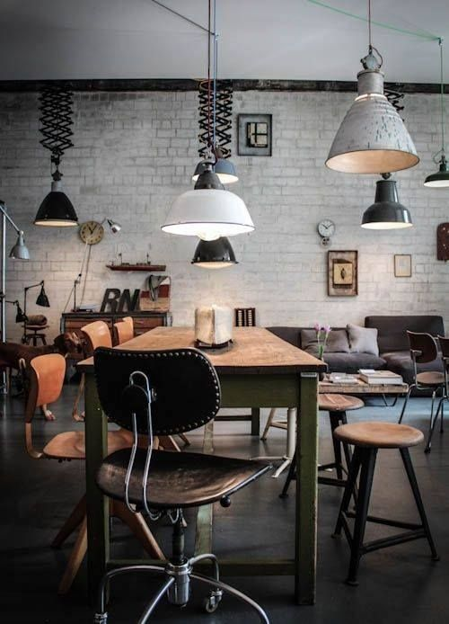 INDUSTRIAL SUSPENSION LAMPS FOR YOUR OFFICE DESIGN_see more inspiring articles at http://vintageindustrialstyle.com/industrial-suspension-lamps-office-design/