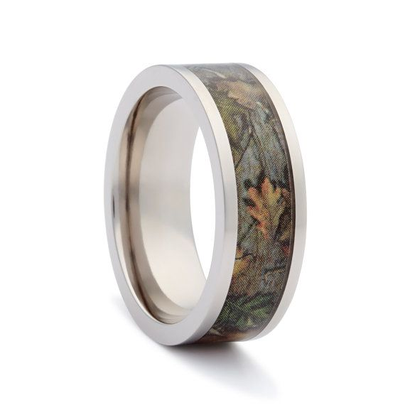Camo Wedding Rings by ONE CAMO - Flat Titanium Mens Wedding Band - Camo Engagement Rings https://www.etsy.com/listing/109422499/camo-wedding-rings-by-one-camo-flat?ref=shop_home_active_19