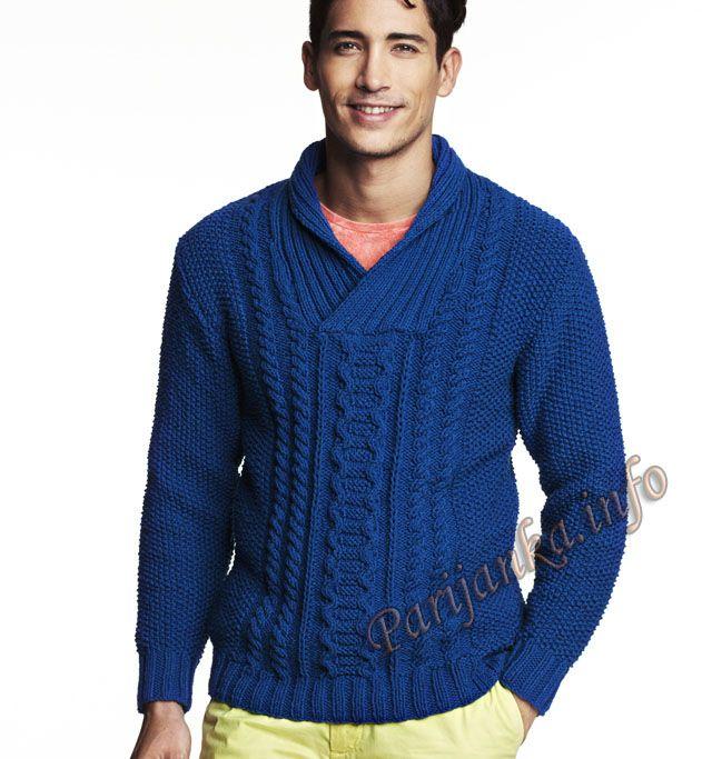 Пуловер (м) 26*121 Phildar №4627