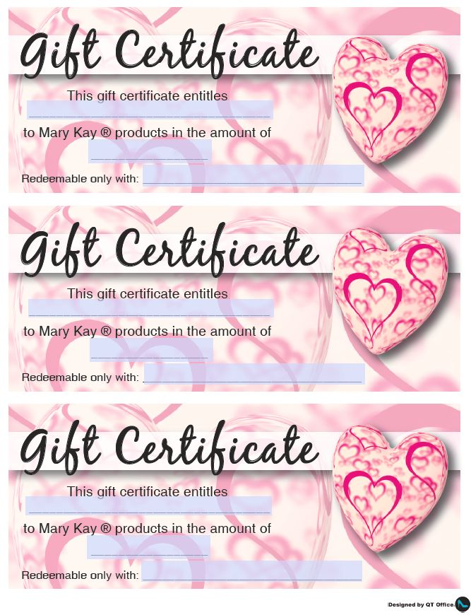 Mary Kay Valentine S Gift Certificates Mary Kay Valentines Day