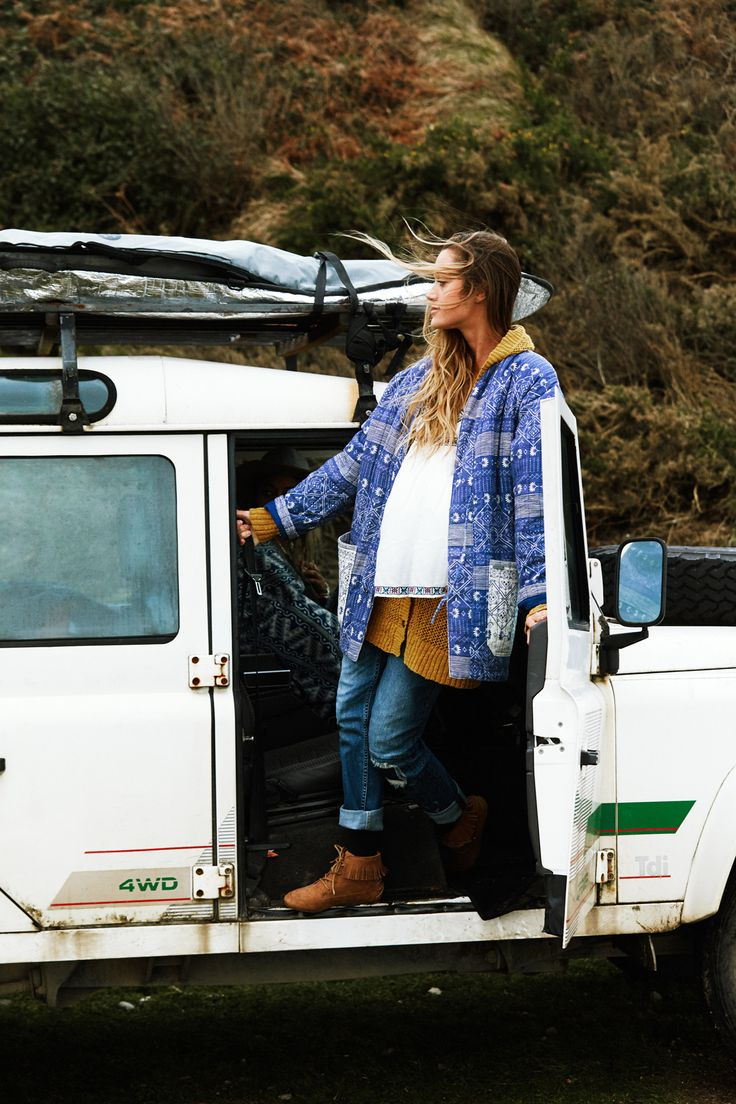 Monyca in the Baleine Bay Quilted Jacket