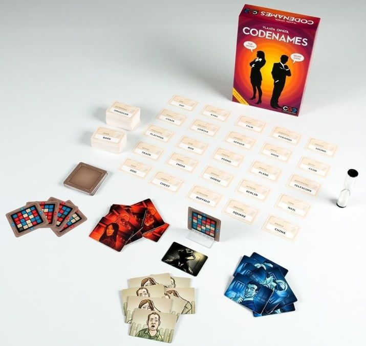 """Ages: 10+ Number of players: 2-8+Promising review: """"The best thing about Codenames is that it's infinitely replayable, even if you always play with the same group of people, because of the sheer number of possibilities of combinations of cards and layouts. Add in that the other versions (Disney Codenames, Marvel Codenames, Codenames Deep Undercover, etc.) can be combined with the base game, and you have one that's destined for longevity. I personally love the challenge of trying to be on the…"""