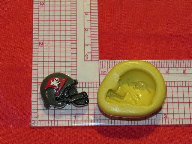 NFL Football Tampa Bay Buccaneers Helmet Silicone Push Mold 336 Chocolate Candy #LobsterTailMolds