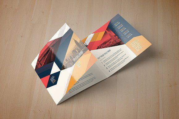 Vintage Square Trifold Brochure by maria.giorgi on @creativemarket