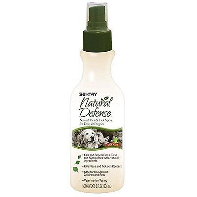 Sentry Natural Defense Natural Flea and Tick Spray for Dogs and Puppies 8 Fluid
