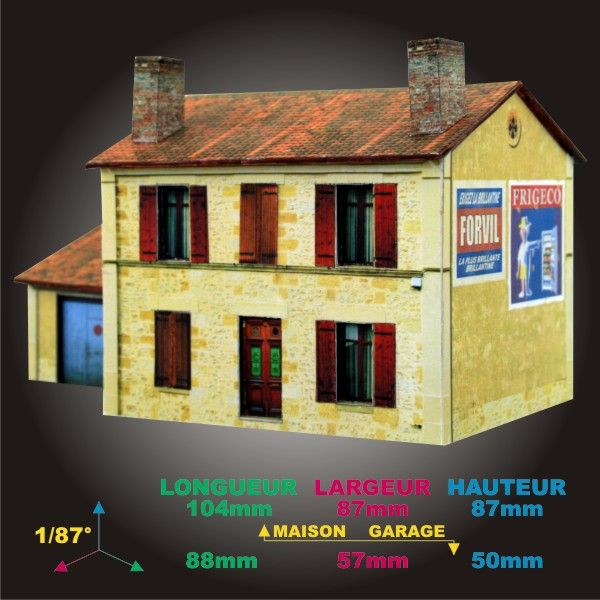 Les 39 meilleures images du tableau 01 maquettes decors patrice gregoire rues de papier 1 - Maison papier a decouper ...
