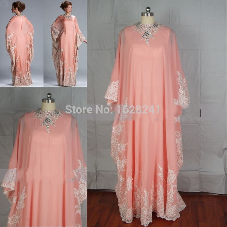 Find More Evening Dresses Information about 2015 Real Photo Chiffon Kaftan Evening Dress Dubai Abaya Long Sleeve a line Appliqued Beaded Plus Size Formal Evening Dresses,High Quality dress with a cape,China dress tunics Suppliers, Cheap dress edge from True Love Bridal dress Co., Ltd.  on Aliexpress.com