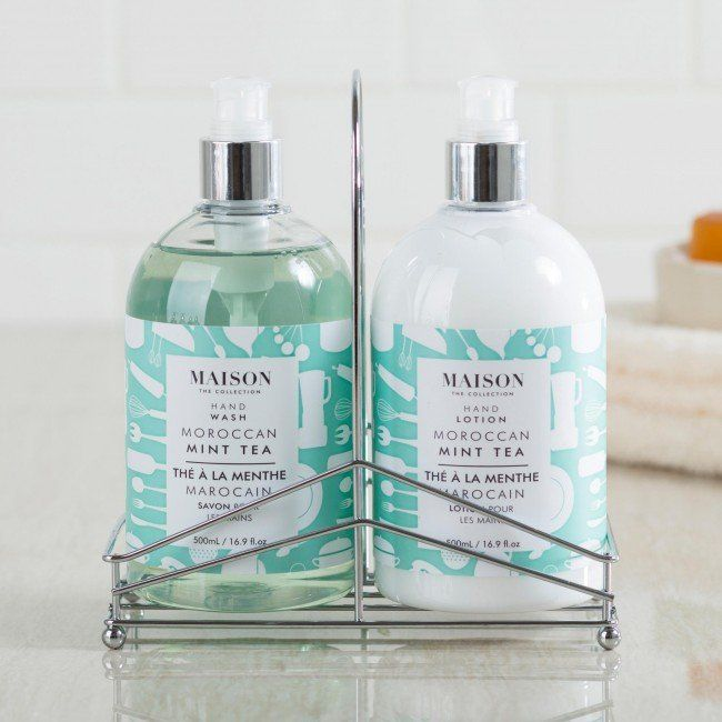 This beautifully crafted caddy set enhances your decor and is a stunning gift for any occasion. The hand wash and lotion feature the beautiful scents of sweet mint and zesty citrus.