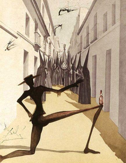 'El pájaro ha volado AP 1970' Salvador Dali Litografía