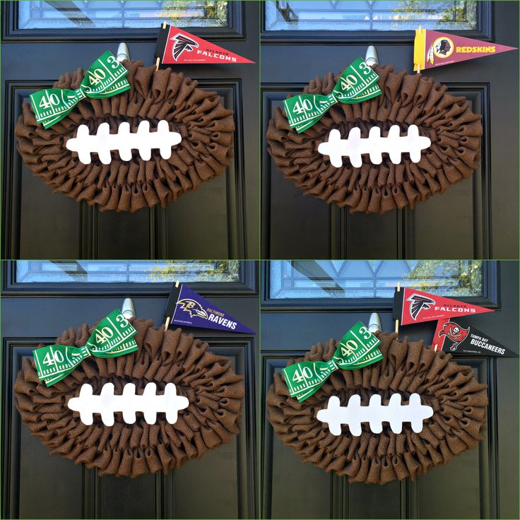 NFL Football Wreath