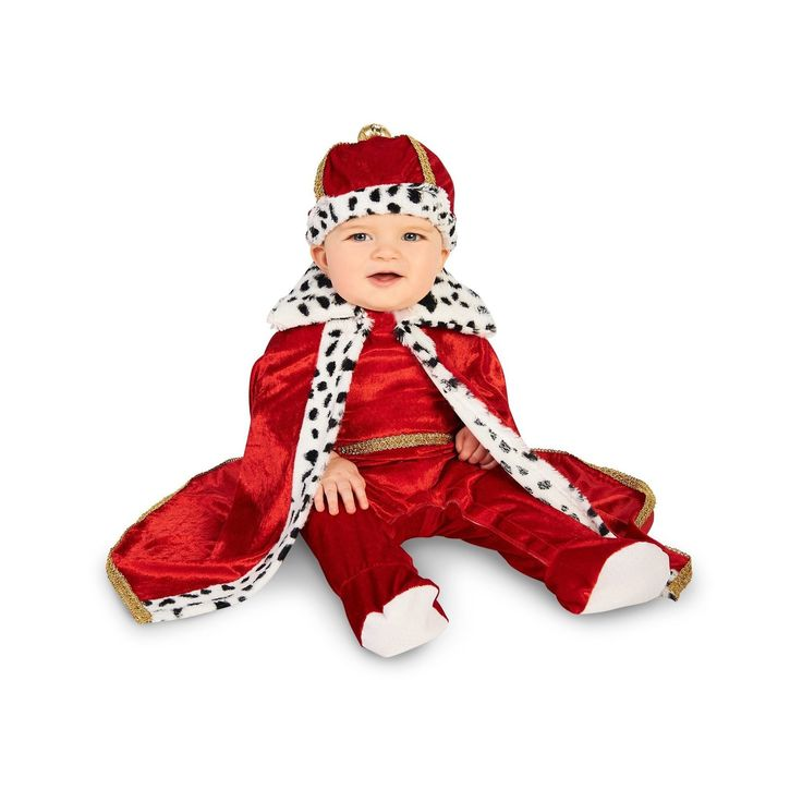 Halloween Royal Majesty King Infant Costume 18-24 Months, Infant Boy's, Size: 18-24 M, Multicolored