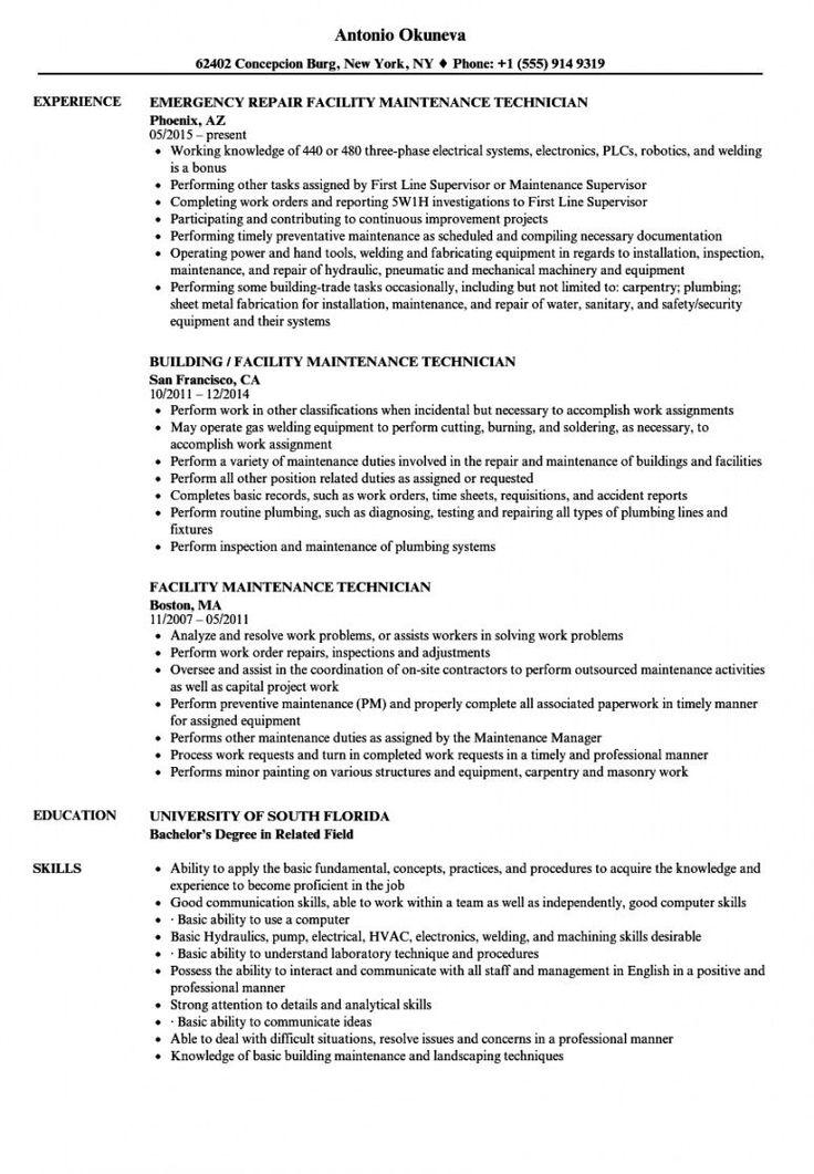 Get our sample of maintenance technician job description