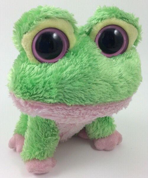 TY BEANIE BOOS KIWI Pink Green FROG 6