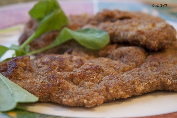 veal escalope panée (biftek) - SO delicious!!!