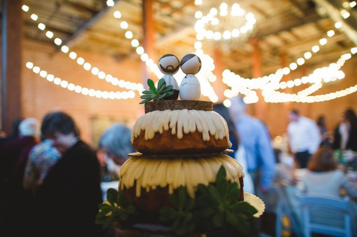 Nothing Bundt Cakes + Succulents+ handmade wedding topper
