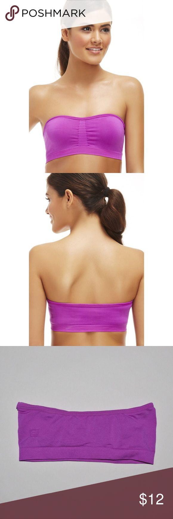 Fabletics Sevan Seamless Bandeau Top Brand: Fabletics Item name: Sevan Seamless Bandeau Top Color: Purple Condition: Brand new without tags.  However, the size tags have been cut out.  Size: XS Fabletics Tops