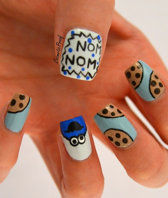 cookie monster nails designs | 15 Newest Cool and Creative Nail Designs 2014