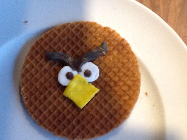 Angry Birds stroopwafel