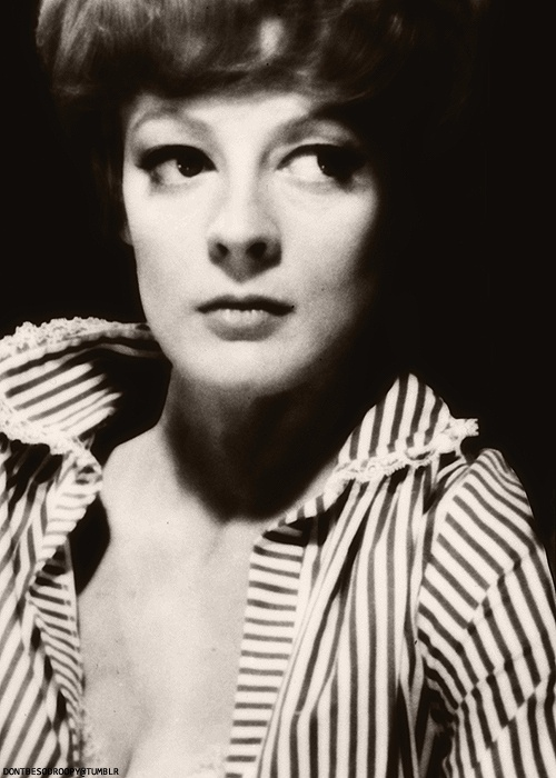 young maggie smith from  u0026quot hot millions u0026quot  with peter ustinov  directed by eric till   1968