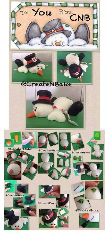 Snowman Picture Tutorial