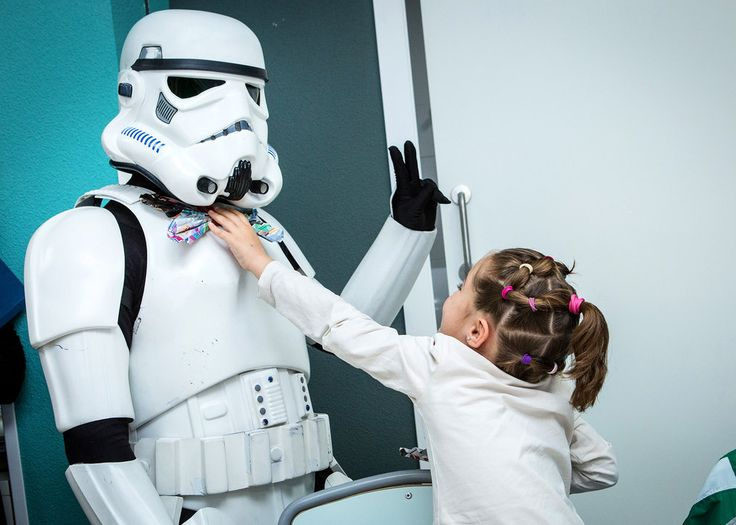"""Members of the 501st Legion of Star Wars visit Pediatric Hospital on May 4th, in Madrid, Spain. May 4th, known as national Star Wars Day, is traditionally celebrated with the slogan, """"May the 4th be with you."""""""
