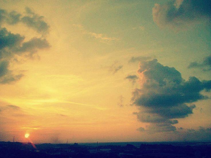 sweet sunset at #Semarang Central Java