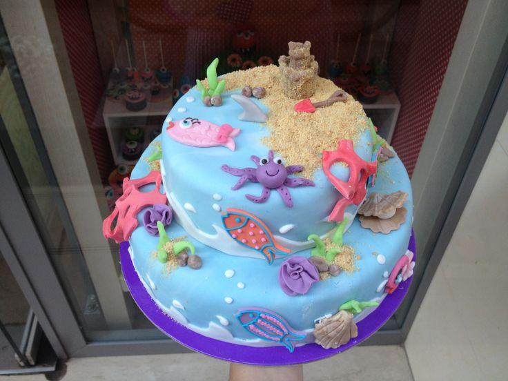 Τούρτες Γενεθλίων - Βυθός με αμμουδιά! #sugarela #TourtesGenethlion #vythos #ammoudia #BirthdayCakes
