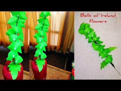 Diy Bells Of Ireland Flowers How To Make Bells Of Ireland Paper Flower Youtube Paper Flowers Diy Flowers Flower Crafts