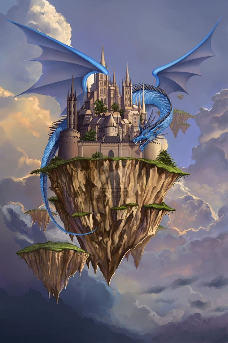 dragon and a floating ...
