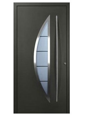 Las 25 mejores ideas sobre puertas met licas en pinterest for Puertas de metal con vidrio modernas