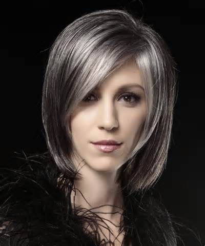 silver highlights on dark hair - Yahoo Image Search Results