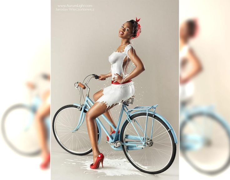 Based on pin-ups from the 40's and 50's, these girls make wearing milk look glamorous. Photographer Jaroslav Wieczorkiewicz drew inspiration from famous pin-up artist Gil Elvgren for his sexy shoot.