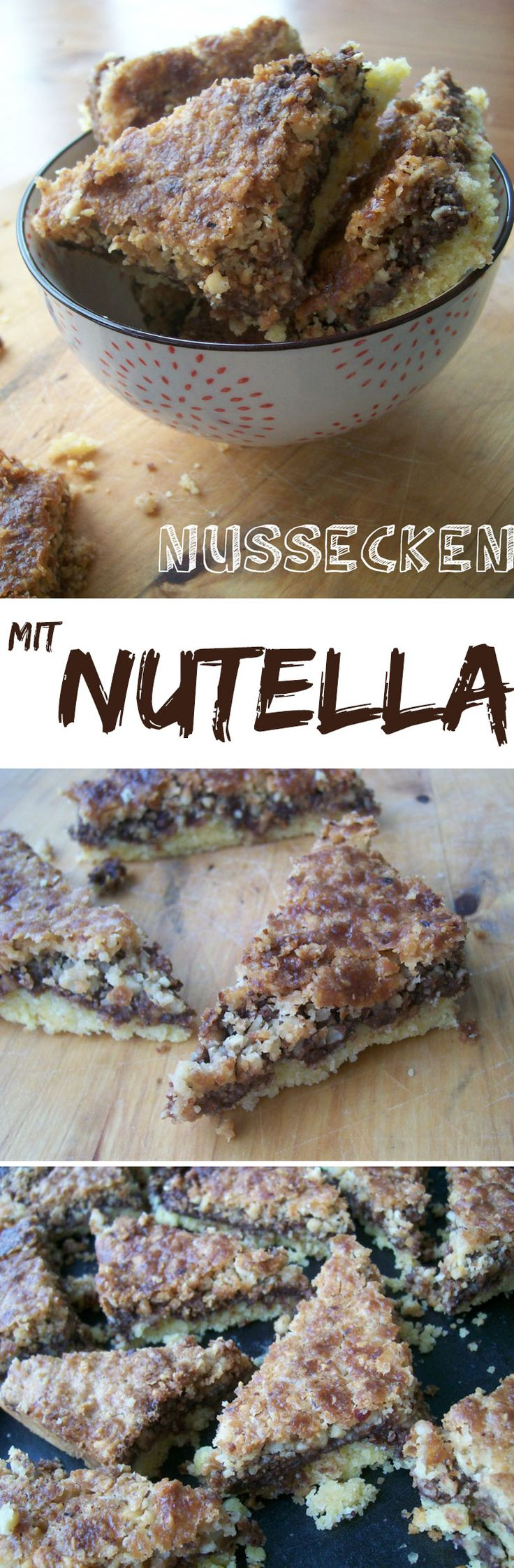 Nussecken mit Nutella {einfaches Rezept} Rezeptideen für Plätzchen - kreativfieber.de