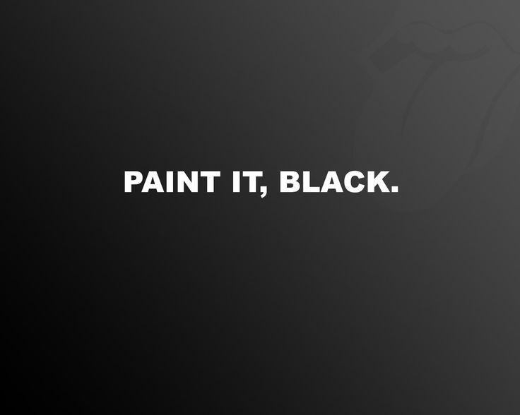 Raiders Paint it Black desktop backgrounds   Wallpaper Paint it, black. Minimalismus. Wallpapers 3d für Desktop ...