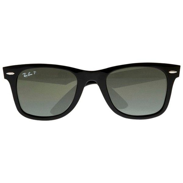 Ray-Ban RB2140 Iconic Wayfarer Oval Sunglasses ($200) ? liked on Polyvore featuring