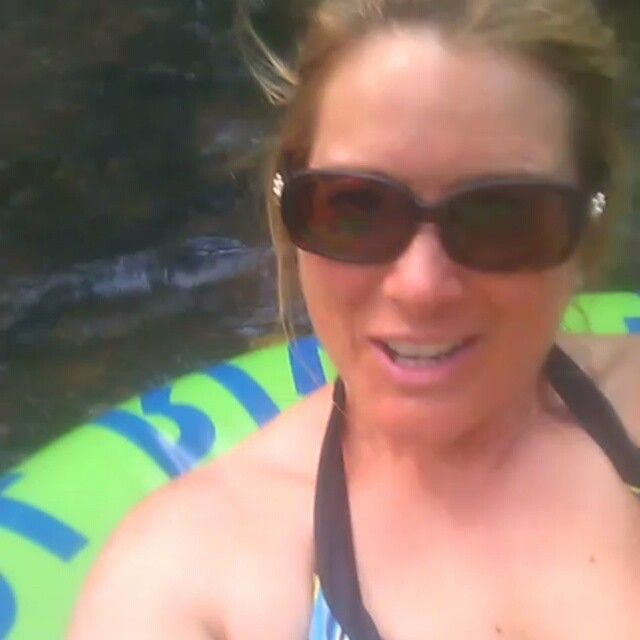 Tubing down the #chatahoochee in #Helen #GA perfect day, cool water!
