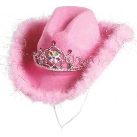 Chapeau cowboy rose femme