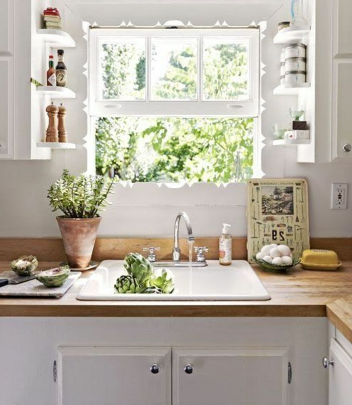 Perfect beaucoup de variantes duvier de cuisine en photos for Evier cuisine encastrable resine